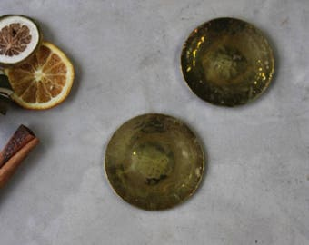 Pair Brass Discs