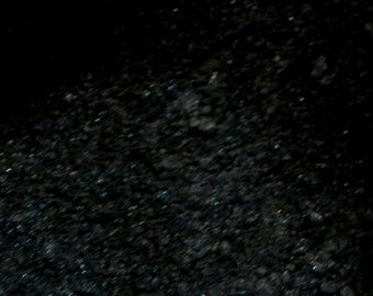 Black Mica 1 Oz or 4 Oz Black Shimmer Mica, Black Sparkle Mica, Black Pearl Mica , Cosmetic Supply, Makeup Supply