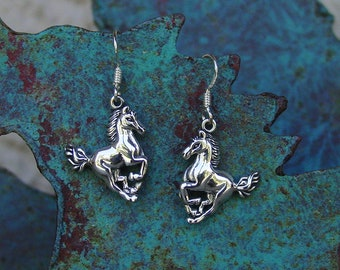 Galloping Horse  Earrings Equestrian Jewelry,Horse Running Earrings