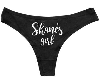 My Girl Thongs - Property Of Thongs -  Thongs - Funny Panties -  Womens Underwear - Funny Black Thong - Adult Underwear - Custom Panties