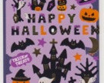 Halloween Stickers - Pumpkin Stickers - Ghost Stickers - Gold Trim - Reference T4743-45