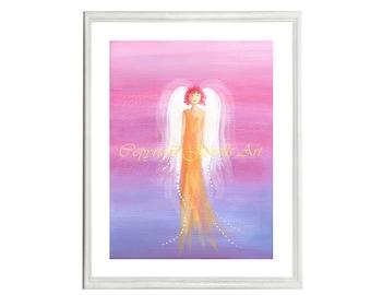 Love Art Print, Part of the Angels Rising Series, Spiritual Art, Feng Shui Art, Healing Art, Art & Collectibles
