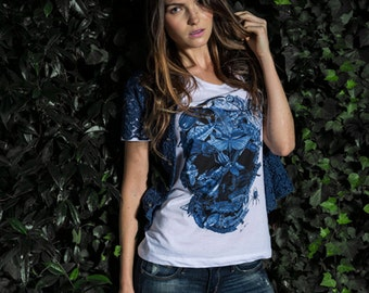 T-shirt • INSECTS skull memento mori (white) - Collection limited-