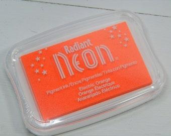 Electric Orange Radiant Neon Ink Pad - Tsukineko