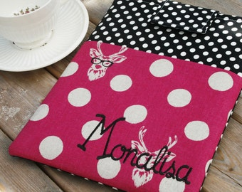 Monogrammed iPad Case, ipad sleeve, ipad air cover, Personalized tablet accessories, fit ANY brand, pocket ipad Case tablet Case- Nerd Alert