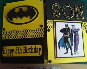 Joker batman card etsy batman card superhero card batman joker robin dc comics dcs bookmarktalkfo Gallery