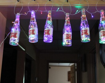 Miller light gift etsy set of 6 miller high life bottle led string lights man cavebardeco light with 8 light patterns aloadofball Images