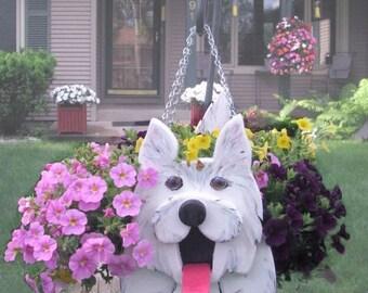 Westie  Dog Planter