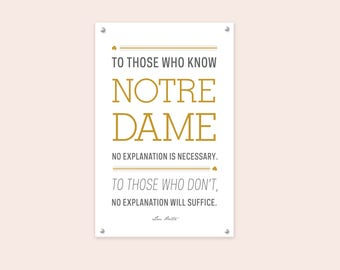 Notre Dame Fighting Irish Lou Holtz Poster