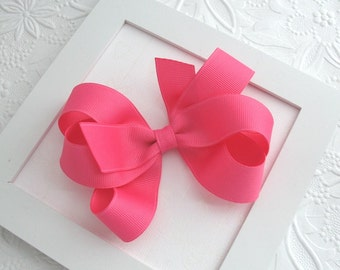 Hot Pink Hair Bow, Toddler Hair Clip, Girls Hair Accessories, Double Loop Boutique Bow, Pink Hair Bow, Baby Bow, Large Hair Bow, Baby Bows