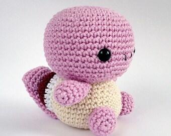 PATTERN - Squirtle crochet pattern, Pokemon Amigurumi pattern, Plush crochet pattern, Plush toy, Animal, Turtle