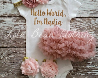 Baby Girl Coming Home Outfit \\ Baby Girl \\ Baby Girl Gift \\ Baby Girl Clothes \\ Baby Girl Take Home Outfit \\ Lola Bean Clothing