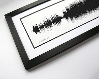 Better Man - Rock Song Wall Art Print - Sound Wave Art
