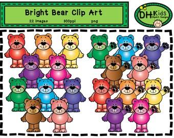 Bear Clip Art - Bright Bears - Clip Art