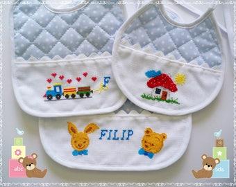 Bibs (Baby Bibs)-Cross Stitch