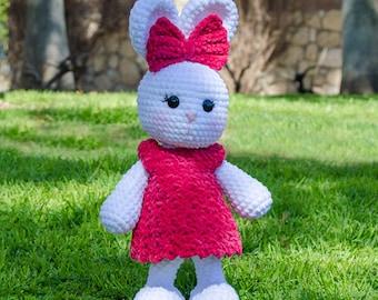 Olivia the Bunny Amigurumi - PDF Crochet Pattern - Instant Download - Amigurumi crochet Cuddy Stuff Plush