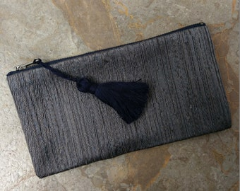 The Mini Clutch - Zippered Clutch with Tassel