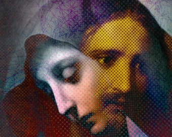 Jesus Through Mary Poster Religious Gifts