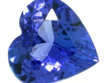 Natural Tanzanite Gemstone AA Violet Blue Heart Loose Stones (3x3mm - 8x8mm)