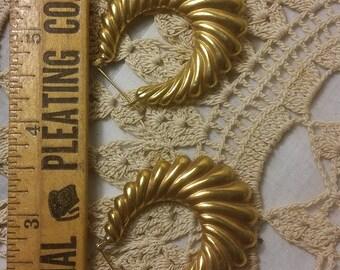 14k Gold Hoop Earrings, 6.7g