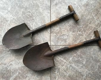 WWI - WWII US Army Trench Shovel T-Handle Two Available