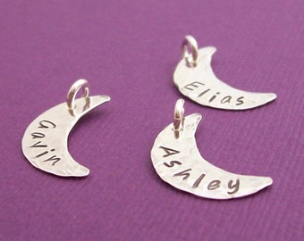 Personalized Sterling Silver Moon Charm - EWD Extras and Add Ons