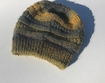 Thick Slouchy Hand Knit Beanie