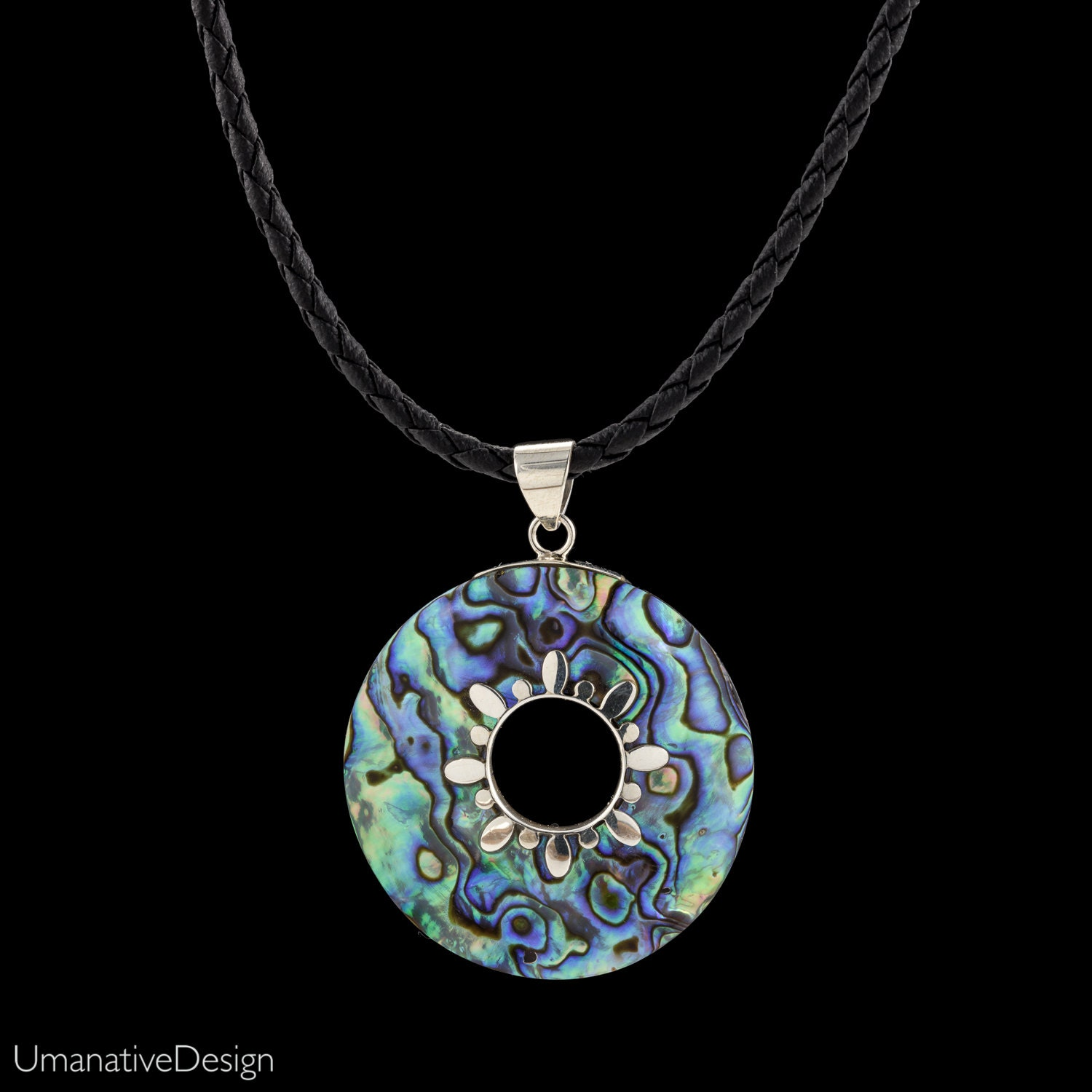 abalone pendant fashion silver see shell of celtic more claddagh paua necklace