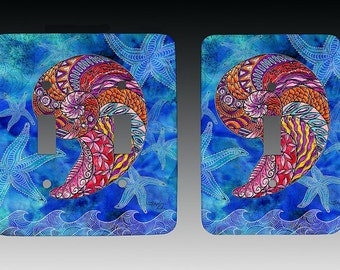 Nautilus Switchplate, Lightswitch Cover, Lightswitch Plate