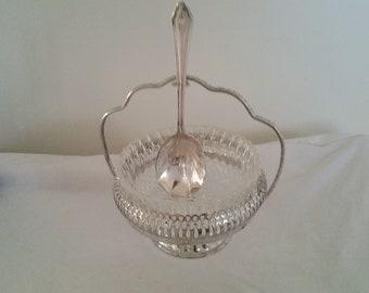 Vintage Silver (EPSN) sugar bowl and teaspoon
