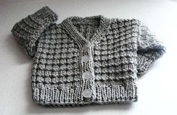Knitting Pattern Knit Baby Cardigan Pattern Pdf Knit 0 3 Mo
