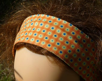 Hair band, adjustable print cotton headband with wire