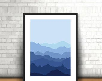 Mountain Range - Wall Decor - Digital Printable