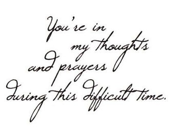 You're in my thoughts... sympathy unmounted rubber stamp, Sweet Grass Stamps No.16