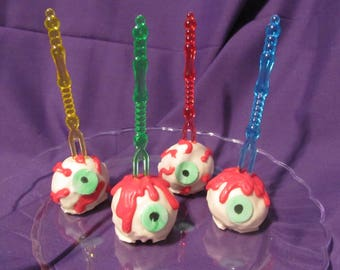 Halloween Creepy Eyeballs cake pops 24