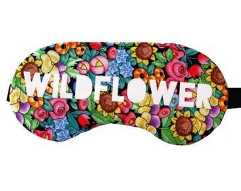 Wildflower Floral Boho Sleep Mask