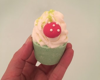 Jasmine and sage bath bomb melt with toadstool, fairy's favorite
