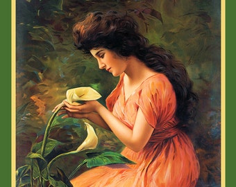 Lady and Calla LilyRefrigerator Magnet
