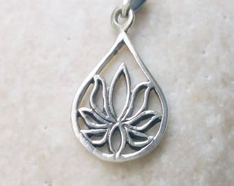 Lotus Necklace Lotus Pendant Lotus Flower Lotus Jewelry Yoga Mothers day Gift for her Bridesmaid Gift for her Wedding gift Layered necklace