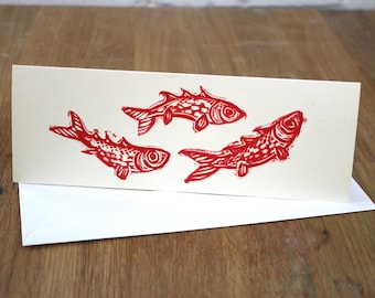Happy Little Fishes Greetings Card