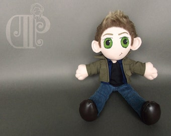 Dean Winchester Supernatural Doll Plushie Toy Jensen Ackles
