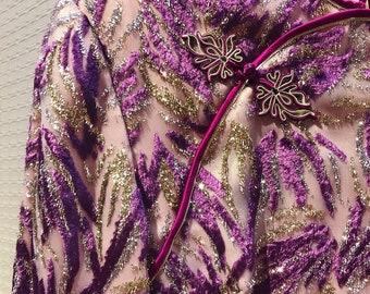 Vintage Dress, Retro Oriental Dress, Linya