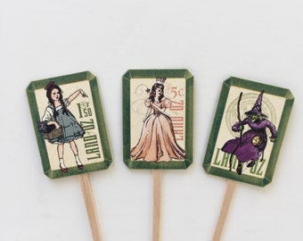 Wizard of Oz Cupcake toppers wizard of oz cake toppers wizard of oz party