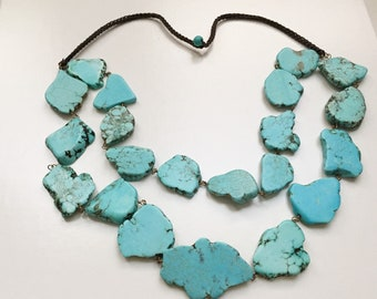 Turquoise-Necklace-Natural-Real-Turquoise-21-Large-Beads
