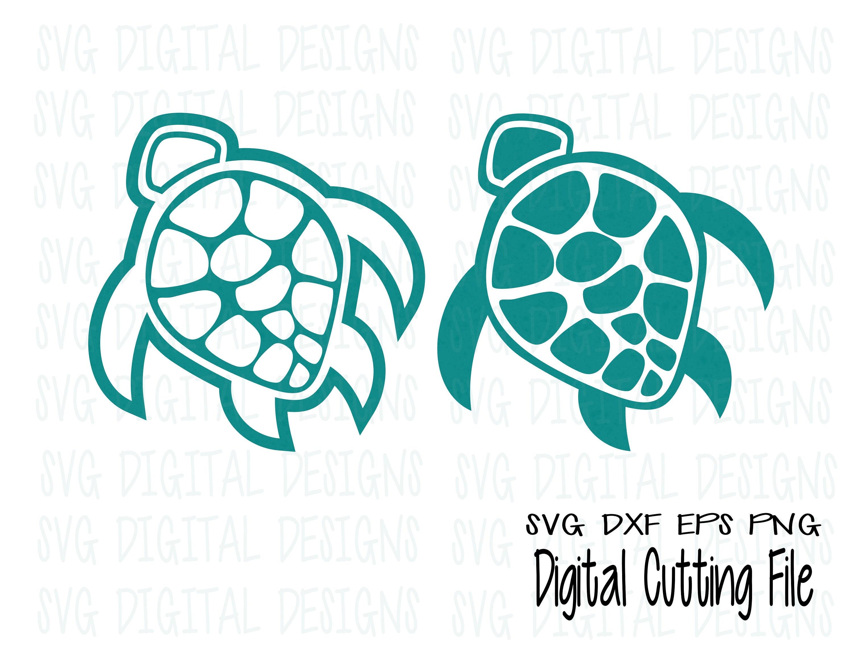 Sea Turtle Svg Set Underwater Ocean Animal Cut Files Svg Dxf