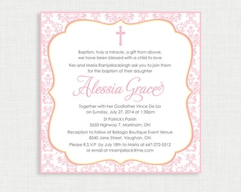 Printable baptism invitation nautical baptism invitation printable baptism invitation girls baptism invitation baby dedication first communion confirmation stopboris