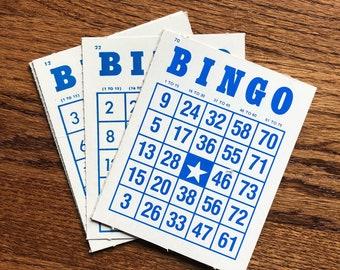 Vintage Bingo Cards ~ Set of 6