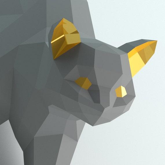 tutoriel chat origami 3d