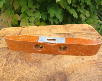 Vintage Exact Level - Wooden Torpedo Level Tool