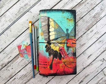 Designer Traveler's Notebook - Designer Cover Plus Inserts - Artists Notebook - Creative Artistry